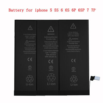 NEW Replacement Battery for iPhone 5 5S 6 6S 6P 6SP 7 7P + Tools 1 Year Warranty