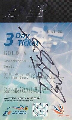 Michael Schumacher Authentic Signed Silverstone Day Ticket Aftal#198