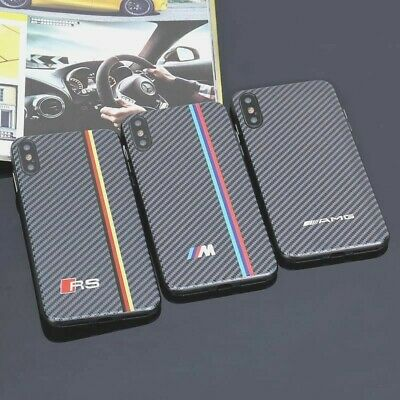 Carbon Fiber Iphone Case Bmw M Amg Rs Motor Sport Cover For X Xs Max Xr Luxury