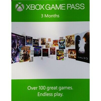 Xbox Game Pass, 3 Month Subscription Code, Xbox One 360