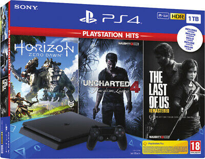 Nuova Sony Ps4 F Console 1Tb Slim Uncharted 4 + Ratchet & Clank +The Last Of Us