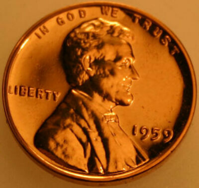 1959-P Lincoln Memorial Cent Proof Red Penny
