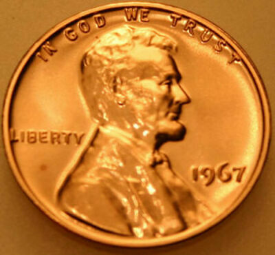 1967-P Lincoln Memorial Cent SMS Special Mint Set Red Penny