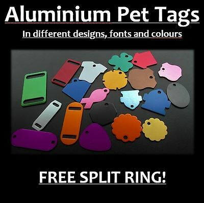 Aluminium Tags for Pets, INCL Personalised Engraving, Dog, Cat, Pet, Collar Tag!