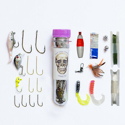 Survival Fish Kit Basic Fishing Gear Bug Out Prepper Supplies Camping Hiking