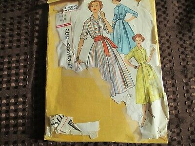 Vintage Simplicity Sewing Pattern 2223 Misses Dress Sz16 B36 H38, Copyright 1957
