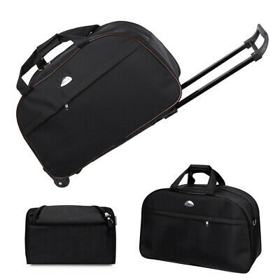 """24"""" Rolling Wheeled Duffle Bag Carry On Luggage Travel Suitcase Trolley Tote 3pc"""