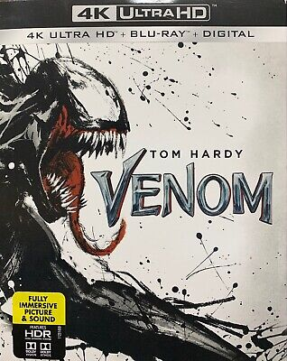 Venom (4K Ultra HD + Blu-ray + Digital, 2018) Factory Sealed, Free Shipping!!