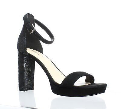 9661d4112f3 BRAND NEW NINE West Size 9 Black Leather Heels With Ankle Strap ...