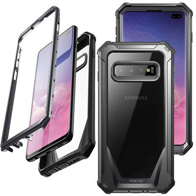 For Samsung Galaxy S10 Plus Poetic [Guardian Series] Hard Case Cover Black