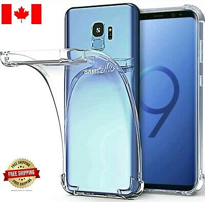 For Samsung Galaxy S8 S9 Plus Ultra Clear ShockProof Soft TPU Bumper Case Cover