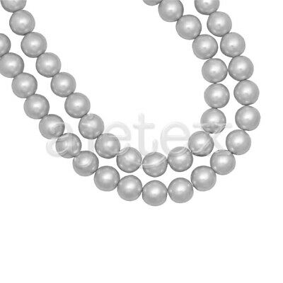 200pcs Light Gray Glass Pearl Spacer Beads Round Crafts Making 4x4mm IFGP1-28