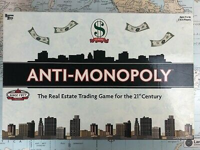 Anti-Monopoly Board Game Real Estate Trading Cards Still Sealed