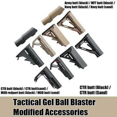 Tactical Nylon Buttstock For JinMing Gen8 M4 Gel Ball Blaster Toy Gun Accessory