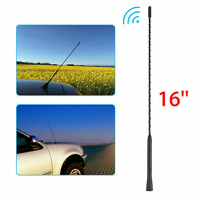 """16/"""" Car Roof Mast Radio Whip style Long Aerial Antenna Strong Signal AM FM USPS"""