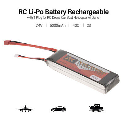 ZOP POWER RC Li-Po Battery 7.4V 5000mAh 40C 2S with T Plug for RC Drone G0C0
