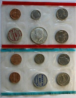 1968 P & D US Mint Set Incl. Kennedy Silver Half Dollar