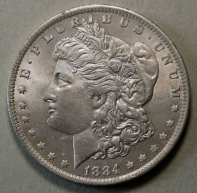 1884 O US Morgan Dollar $1 KM# 110 AU Coin