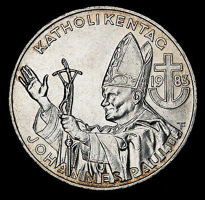 Australia 1983 500 Schilling Catholic Day - Pope's Visit Sterling Silver Crown