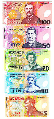 New Zealand 1999 Same Serial # Set Inc. $10 Mismatched #s Error Brash $5-$100