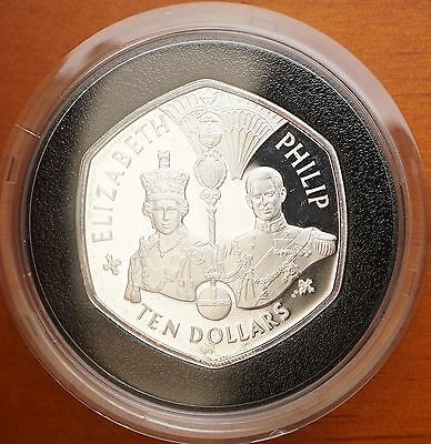 East Caribbean States 2007 Sterling Silver Proof $10 Coronation Crown w/COA