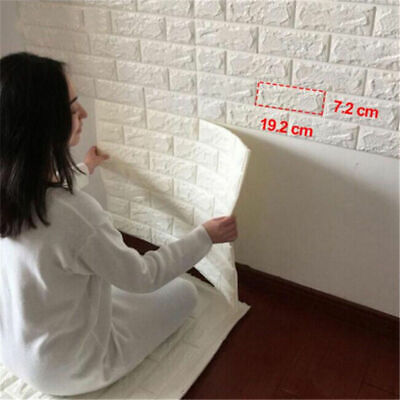 PE Foam 3D Self Adhesive Panels Wall Stickers Home Decor  DIY Embossed Brick