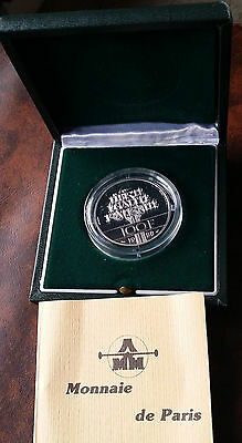 France 1988  Piedfort 100 Francs 90% Silver Proof Coin - Limited Mintage. w/COA