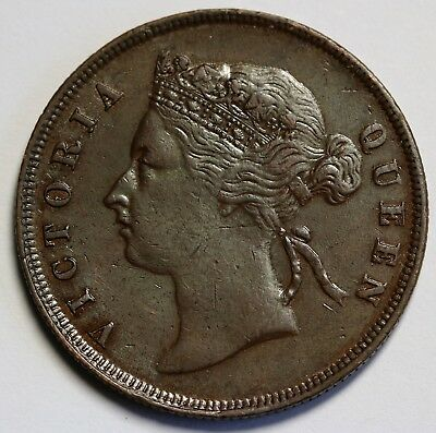 1894 Straits Settlements Cent KM# 16 Queen Victoria Collectable Grade