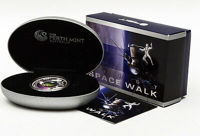 Cook Islands 2009 First Space Walk Coin 1oz Silver 999 Rare Perth Mint Beauty