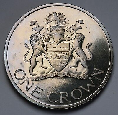 1966 Malawi Crown Day of the Republic Proof Coin 20,000 Minted