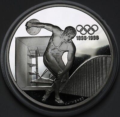 1994 France 100 Francs Olympics Silver Proof Coin Ultra Cameo Coin + COA
