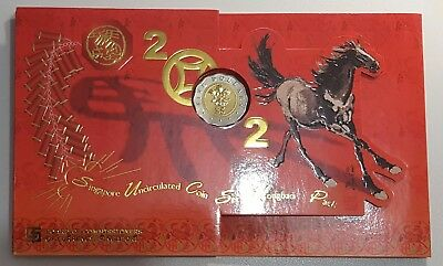 2002 Singapore Hongbao Coin Set - 1c - $5 UNC/BU Coins - Year of the Horse