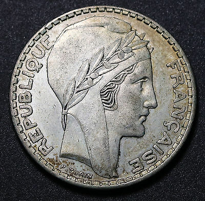1938 France 20 Francs KM# 879 Silver Coin