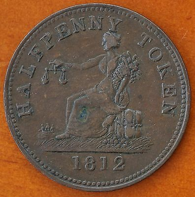 Canada 1812 George III Halfpenny Token Plain Edge Collectable Grade