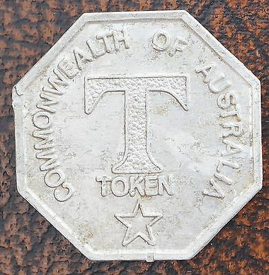 Commonwealth of Australia T Token Aluminum ND