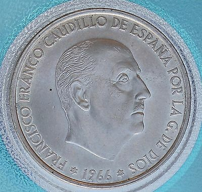 1966 (66) Spain 100 Pesetas KM# 797 Silver Caudillo  Coin MS UNC