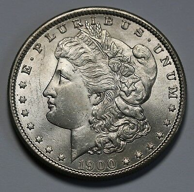 1900 P US Morgan Dollar $1 KM# 110 AU/UNC   Coin +Lustre