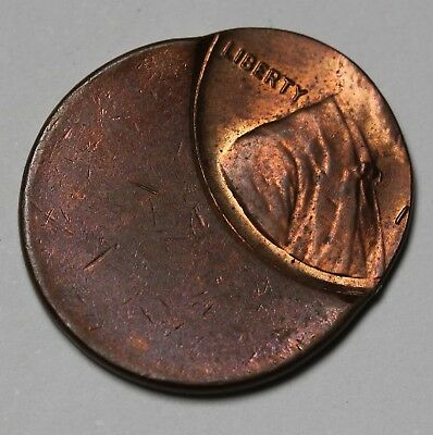 US Lincoln Cent / Penny Mint Error Off Center No Date