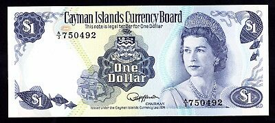 Cayman Islands $1 Dollar ND 1974 P. 5c UNC QEII Note
