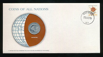 Singapore Coins of All Nations 20 Cents  1977   UNC /BU  Coin