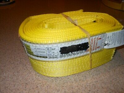"""Ee-1-904P Usa Made!  14 Feet Long  Lifting Sling--4"""" Wide- 1 Ply-Polyester"""