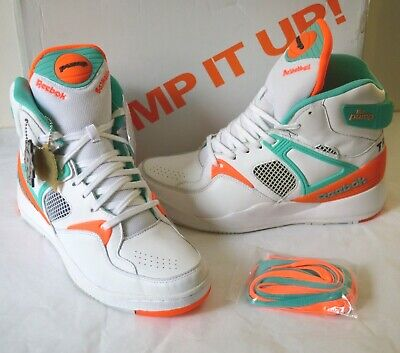fe0c1d9f77cf New Reebok The Pump Certified X Titolo Miami Dolphins Teal Orange White Grey