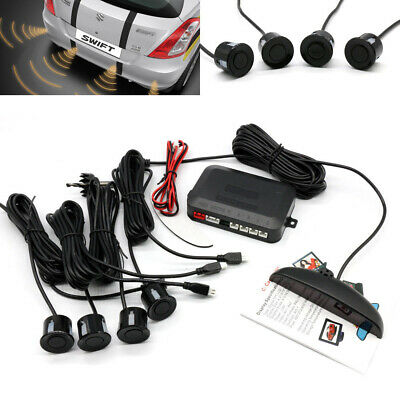 4 Parking Sensors Car Van Reverse Backup Rear Radar System Kit Sound Alert Alarm