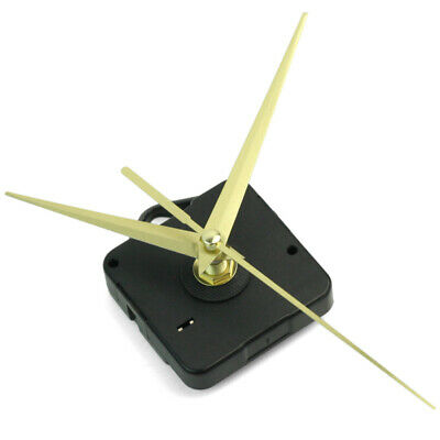 Black Quartz Wall Clock Movement Mechanism 3 Gold Hands DIY Repair Parts NEW