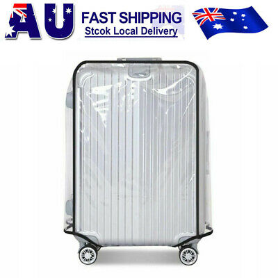 """18""""-30"""" Waterproof Transparent Protective Luggage Suitcase Travel Cover Case Bag"""