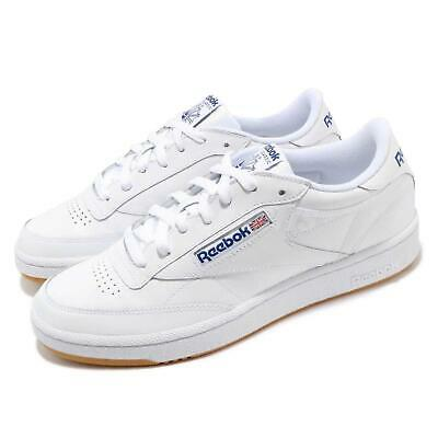 8736414dedefb Reebok Club C 85 White Royal Blue Gum Men Classic Casual Shoes Sneakers  AR0459
