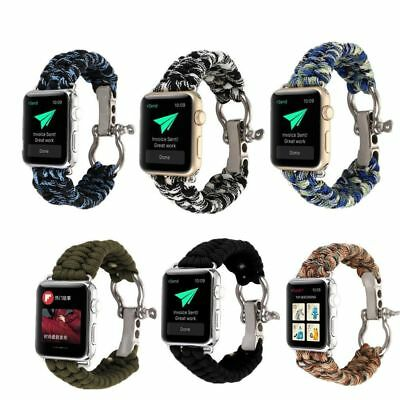 3842mm Nylon iwatch Band Rope Sport Loop Bracelet Strap For Apple Watch AT