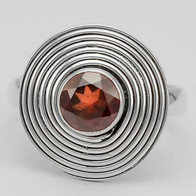 Hessonite Garnet 925 Sterling Silver Ring Jewelry s.10 RR26578