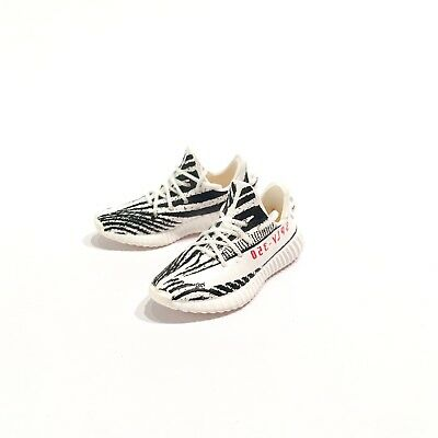 low priced 9506a d552e madxo  3D mini sneaker YEE ZY BOOST 350 V2 Zebra 1 6 action figure