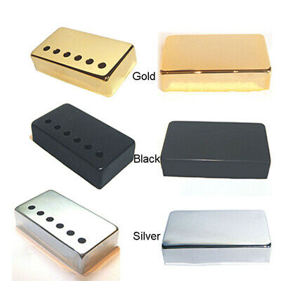 Humbucker Guitar Pickup Covers, In Chrome, Black, Or Gold 50mm Or 52mm